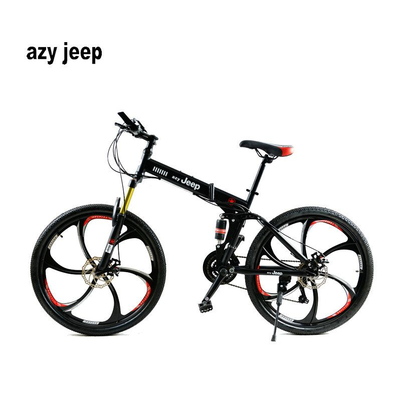 26 inches 21 Speed Folding Bicycle Male / Female / Student <font><b>Mountain</b></font> Bike Double Disc Brake Full Shockingproof kid's bicycle