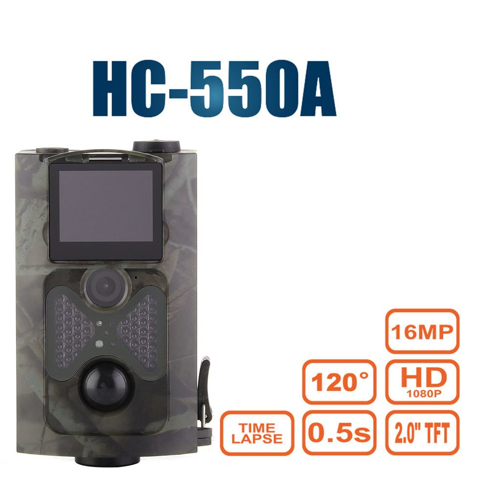 HC-550A Hunting Camera Upgraded Version 5MP Color CMOS 16MP 1080P PIR Sensor Multi Zone Trap Wildlife Trail Hunting Game Cameras
