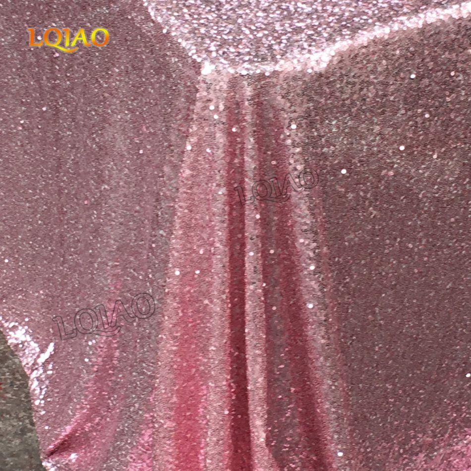 Nappe glamour paillettes or/argent rose brillant 120x200 cm/tissu pour décorations de Table de mariage nappe à paillettes