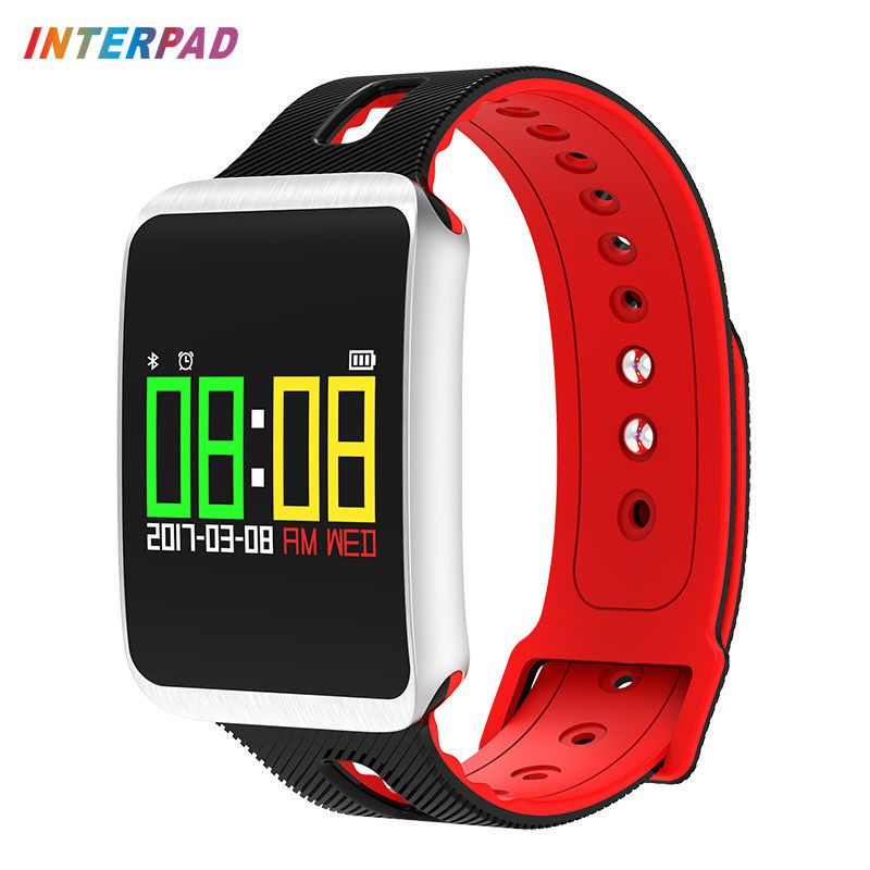Interpad Lover Band With Pedometer Colorful OLED Smart Bracelet Heart Rate Monitor Fitness Tracker Smart Band For iOS Android