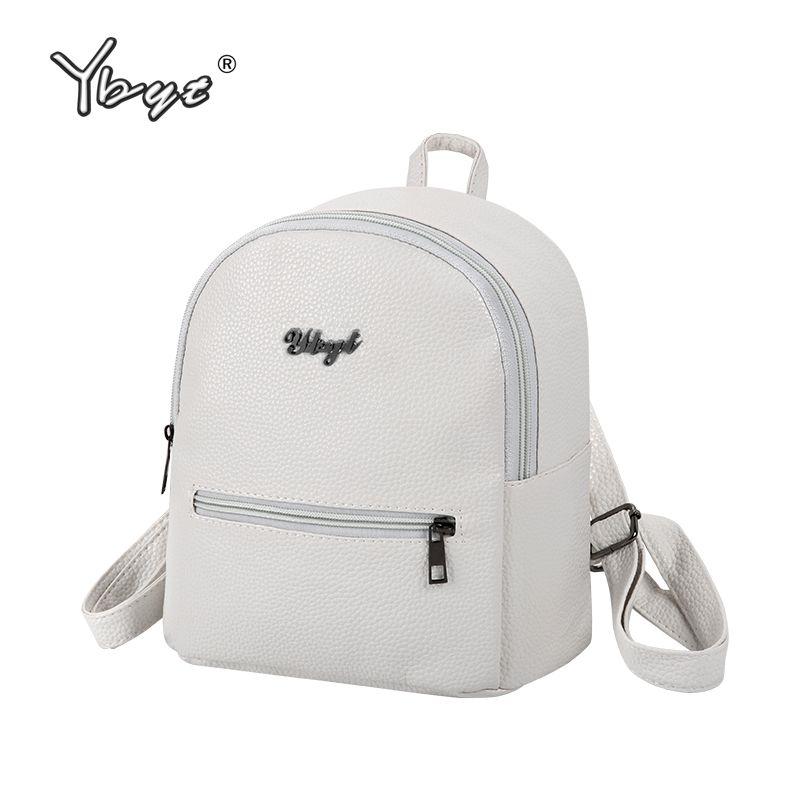YBYT brand 2017 new preppy style solid women kawaii rucksack simple lychee pattern ladies travel bag student school backpacks