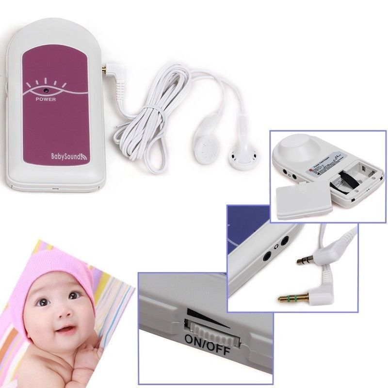 COTEC BABYSOUND A -LCD Display Prenatal Fetal Doppler, Baby Heart <font><b>Beat</b></font> Monitor+ Free Gel