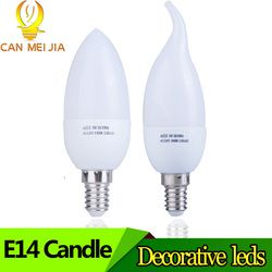 E14 Led Bougie Ampoule À Économie D'énergie Lampe Lumières 3 W 5 W E14 220 V Led Lustre Lumière Spotlight Bombilla Led pour La Maison décoration