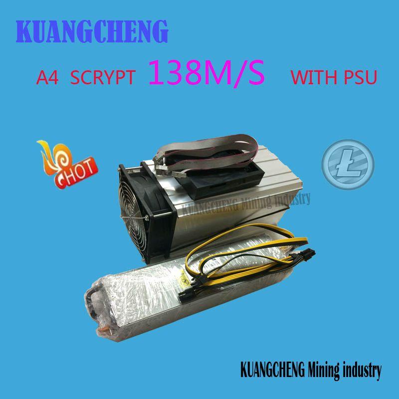Kuangcheng industria minera vender LTC minero innosilicon A4 Dominator 138 m litecoin 14nm scrypt minero mejor que A2 110 mterminator