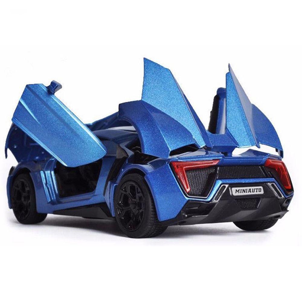 Jouets de voiture de collection modèle 1/32 échelle alliage Lykan Hypersport rapide et furieux électronique moulé sous pression voitures jouets pour garçons enfants