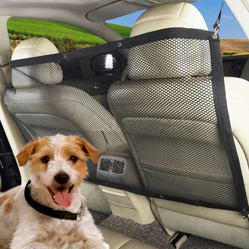 Voiture chien clôture Cage réglable installer voiture Pet chien sécurité obstacles Pet protection Pet voyage chien voiture confinement transporteur BS