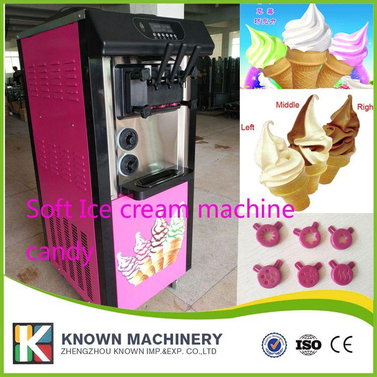 BY sea and TNT shipping 2+1 soft ice cream machine 20L capacity ice cream maker machine