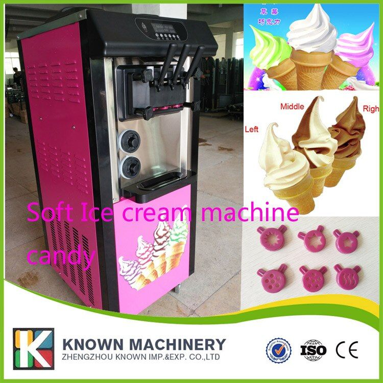 BY sea and TNT shipping 2+1 soft ice cream machine 20L capacity ice cream maker machine