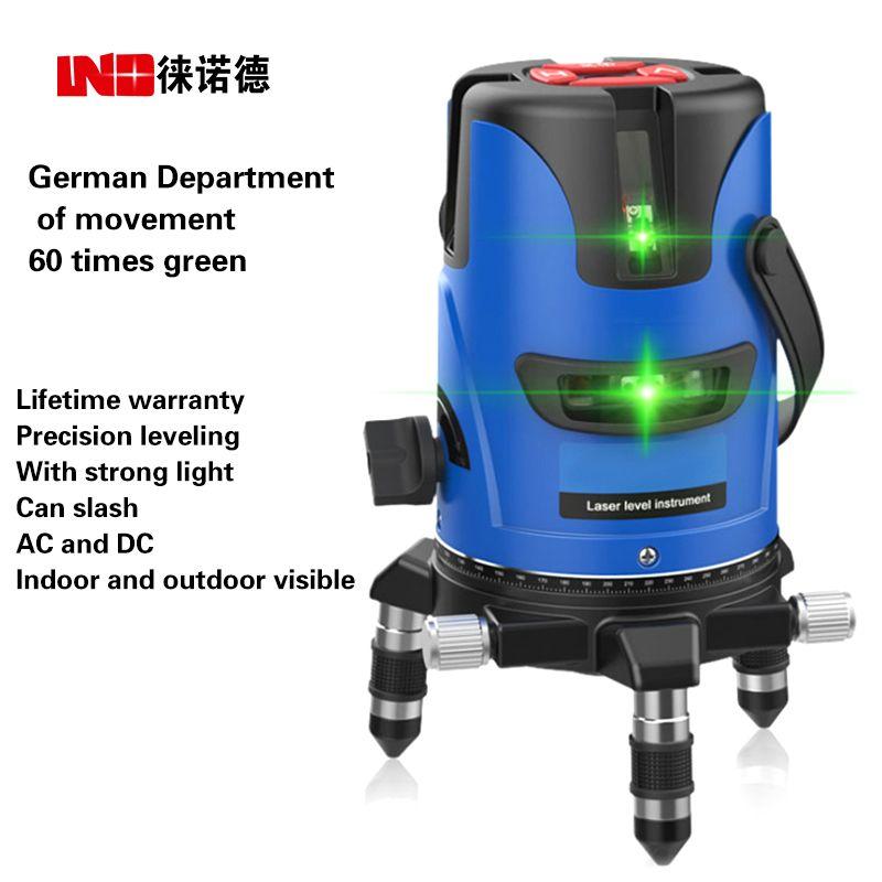NOUVEAU LND Vert Laser Niveau Niveau Extérieur Ultra-léger fonte ligne lignes 3-line 2-line marquage instrument