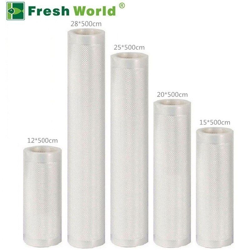 Vacuum Sealing Machine Bags For Food Storage Fresh Keeping 12/15/20/25/28*500cm Vacuum Packaging Rolls