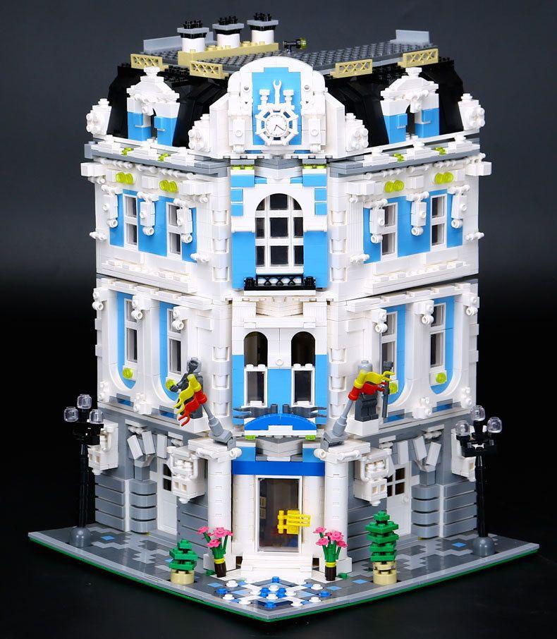LEPIN 15018 3196pcs MOC City Series The Sunshine Hotel Set Building Blocks Bricks Educational Toys For Children Christmas Gifts