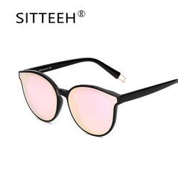 SITTEEH gafas de sol gato ojo gafas mujer hombres espejo clásico gafas de sol lunetas feminino soleil mujer feminino 2018