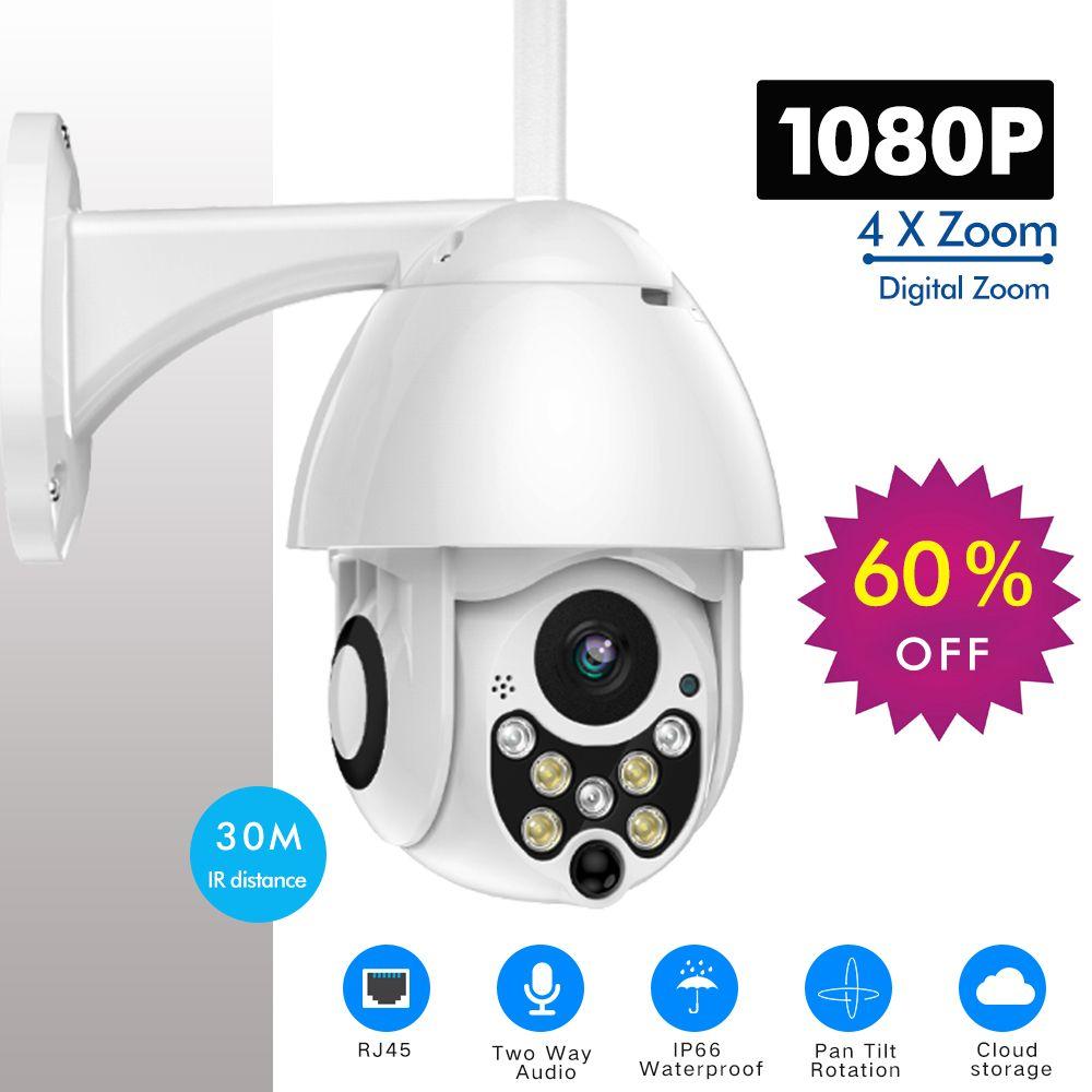 SDETER 1080 P PTZ caméra IP vitesse extérieure dôme sans fil Wifi caméra de sécurité panoramique inclinaison 4X Zoom IR réseau CCTV Surveillance 720 P