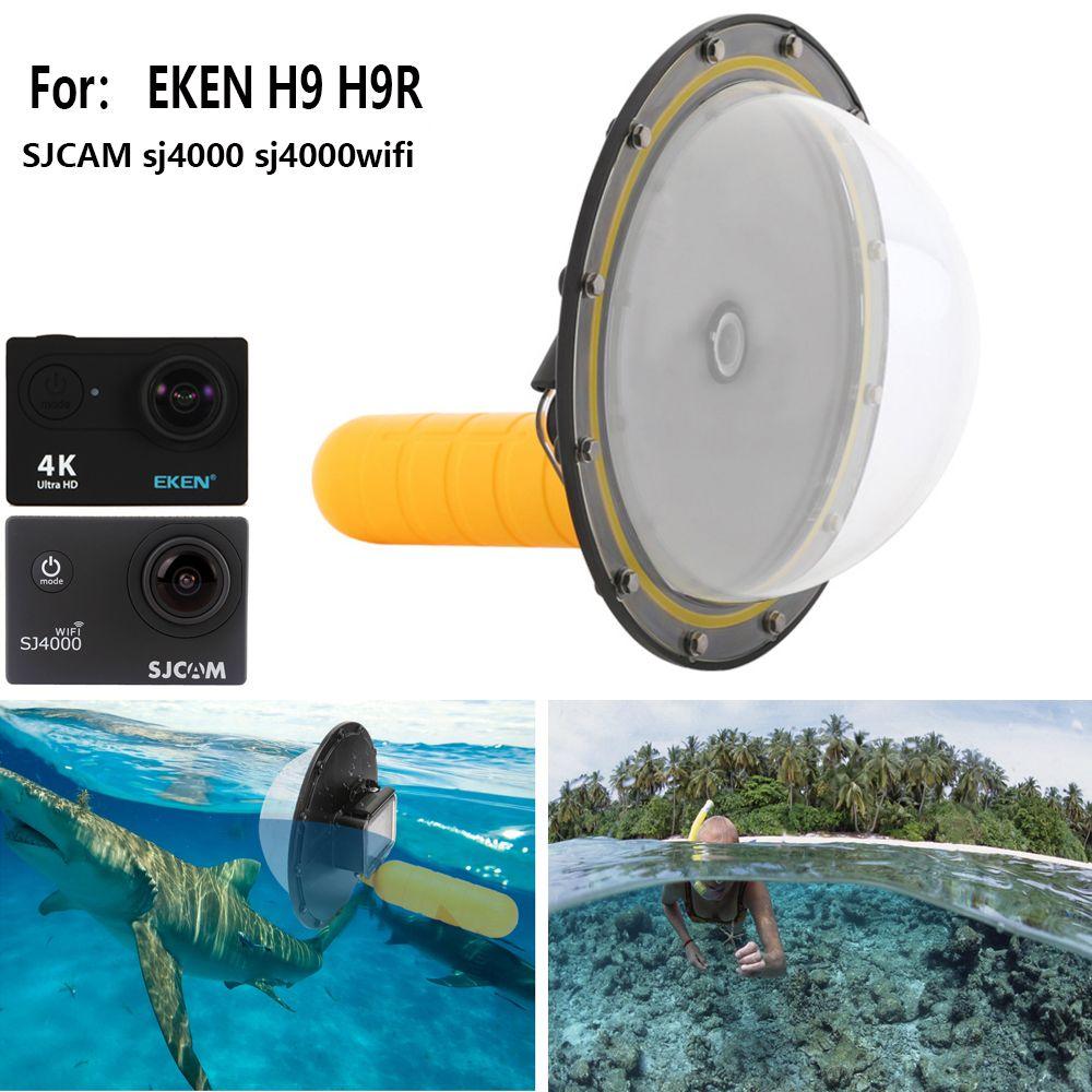 TUYU for EKEN H9 H9r Lens Dome Port Cover Lens Housing Spherical Water Lens Hood for SJCAM Sj4000 sj4000wifi Waterproof 30M