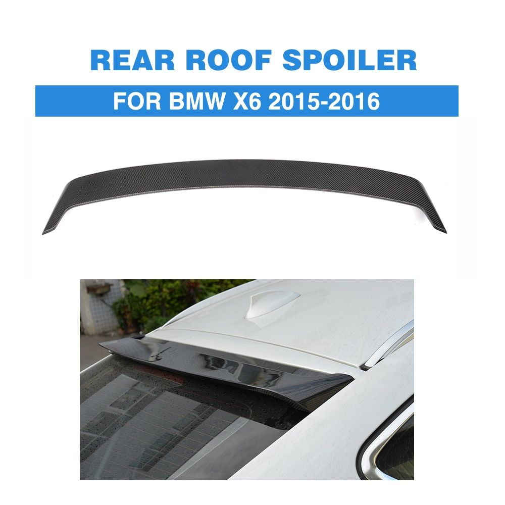 Carbon fiber Rear Spoiler lip wing For BMW X6 F16 2015-2016 H P M Style Rear Window roof Spoiler Car Tuning Parts