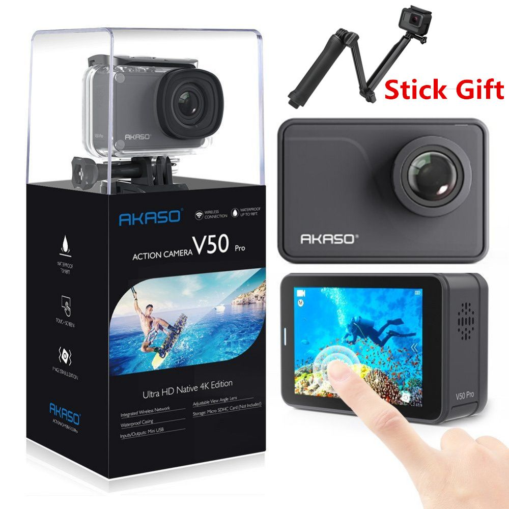AKASO V50 PRO 4K 30FPS Touch Screen WIFI Outdoor Extrems Sport Action Camera With Els Ultra HD Waterproof DV Camcorder 20MP