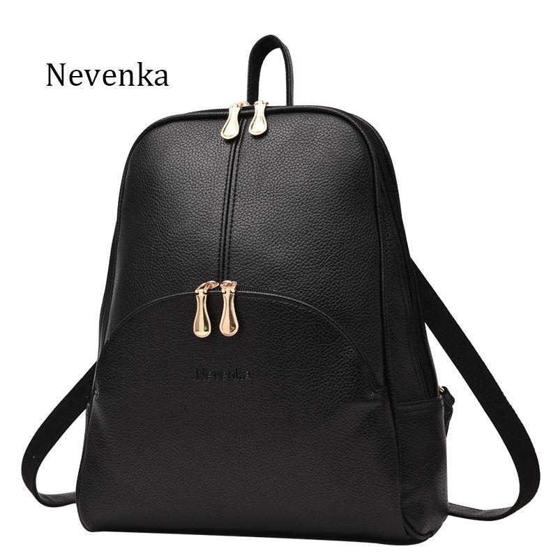 Nevenka Women <font><b>Backpack</b></font> Leather <font><b>Backpacks</b></font> Softback Bags Brand Name Bag Preppy Style Bag Casual <font><b>Backpacks</b></font> Teenagers <font><b>Backpack</b></font> Sac
