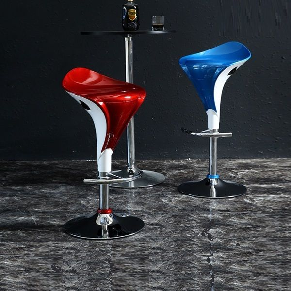 Selling Bar chair ABS seat wine red blue color coffee house lift stool KTV restaurant chair stool wholesale