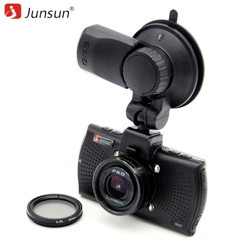 Junsun TOP Ambarella A12 Car DVR Camera FHD 2560*1440P GPS Logger Video Recorder dashcam registrar DVRs CPL Polarizing Filter