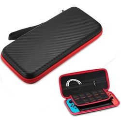 For Nintend Switch Carbon Fibre Protective Case Cover Storage Shell Pouch Protector Waterproof Gamepad Case For Nintendo Switch