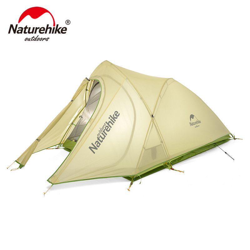 NatureHike Cirrus Ultraleicht Zelt 2 Person 20D Nylon mit Silizium Beschichtet Camping Zelt mit kostenloser Matte NH17T0071-T