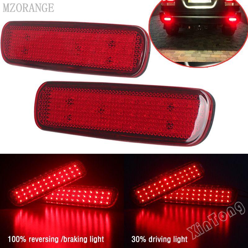 Voiture LED Lumière de Réflecteur de Pare-chocs Arrière Pour Toyota Land Cruiser 100/Cygnus LX470 LED D'avertissement de Stationnement Frein D'arrêt Lampe queue Lanterne