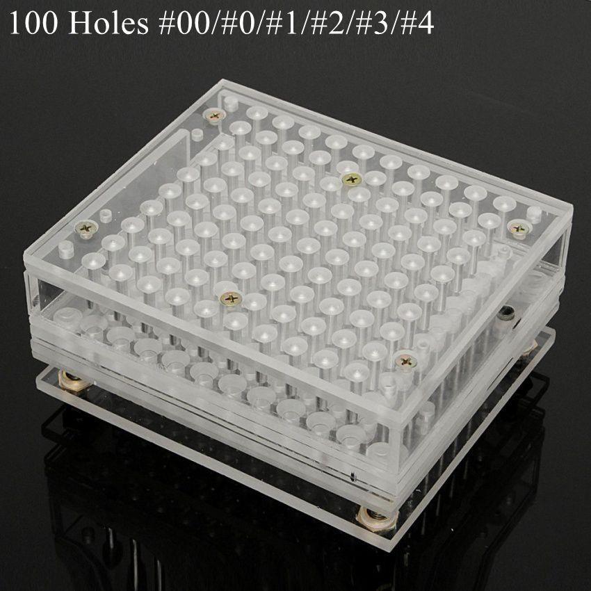 100 Holes Manual Capsule Filling Machine Pharmaceutical Capsule Maker Filler for DIY Herbal Capsule Acrylic #00 #0 #1 #2 #3 #4