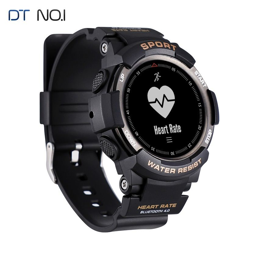 DTNO.1 Smart Watches F6 50m Waterproof Smartwatches Sports Nordic NRF51822 Smart Watch Sleep Monitor Remote Camera IOS Android
