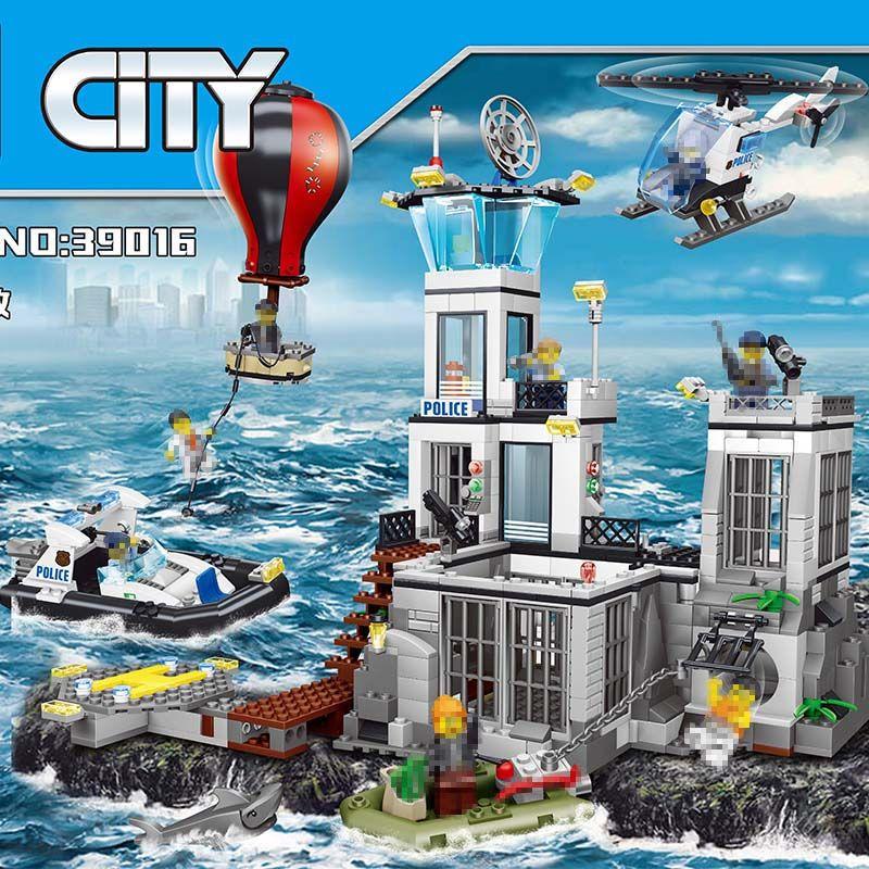 City Street Series Large Building Blocks Sets Maritime Search Rescue Compatible LegoINGLYS City Police Toys for Children 830 Pcs