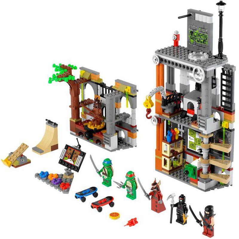 10210 499 pcs Tortue Repaire Attaque Briques De Construction Blocs Ensembles Enfants Jouets Compatibles BELA 79103