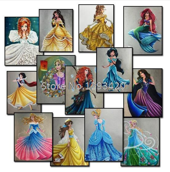5d diy diamond painting princess Nature Rubik's Cube rhinestones diamond painting cross stitch kits Full diamond embroidery