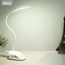 YAGE 14 Pcs Led Desk lamp USB Touch Table Lamp with Clip Bed Reading Book Night Light LED Desk lamp Table 3 Modes Eye Protection