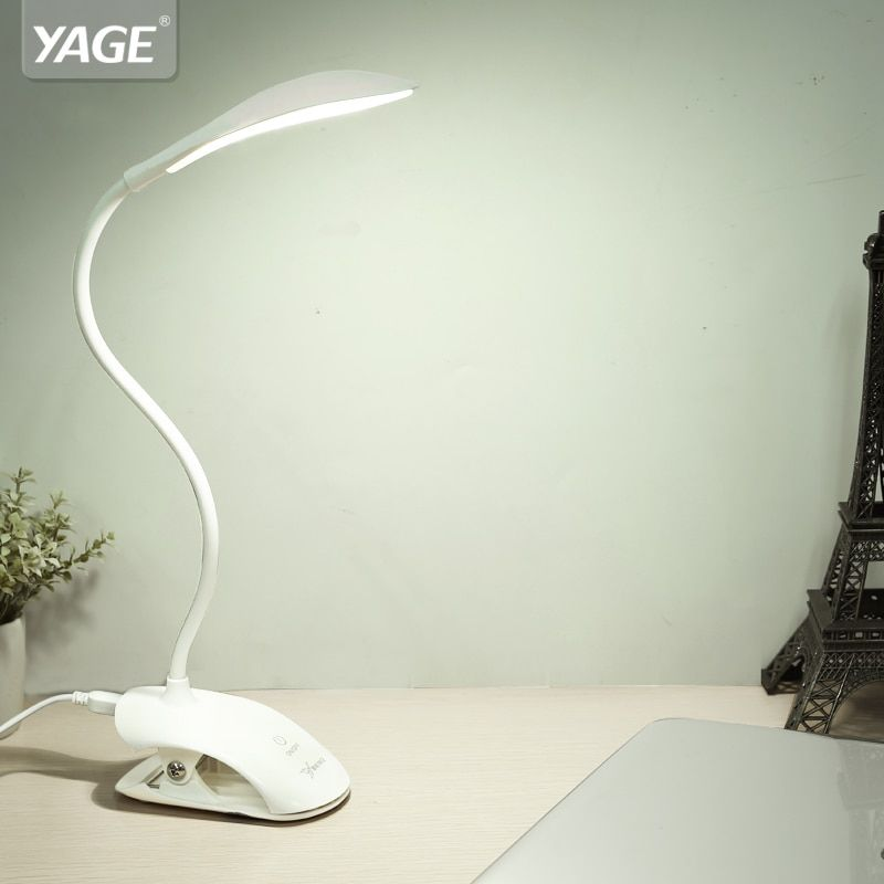 YAGE YG-5933 lampe de bureau USB LED lampe de Table 14 LED lampe de Table avec Clip lit lecture livre lumière LED lampe de bureau Table tactile 3 Modes