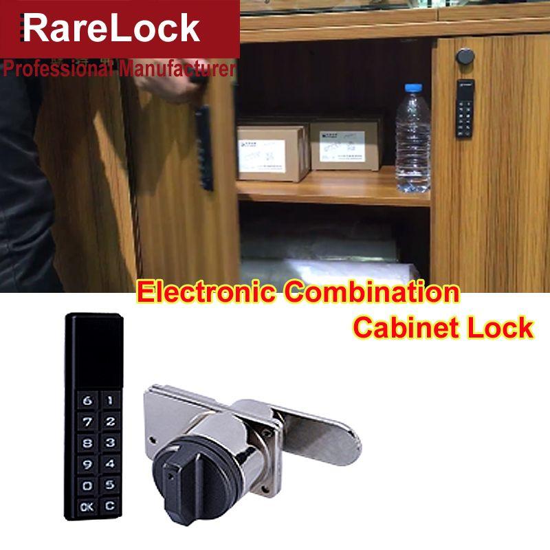 Rarelock MS518 Electronic Combination Cabinet Door Lock for Cash Box Hotel Drawer Women Jewelry Case Gym Locker Furniture DIY i