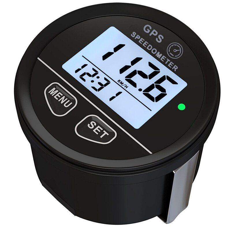 GPS Speedometer 52mm Gauge Odometer Battery Meter Digital Dash 12v 24v Mph Kmh for Car Truck Boat Marine Motorcycle Cart ATV