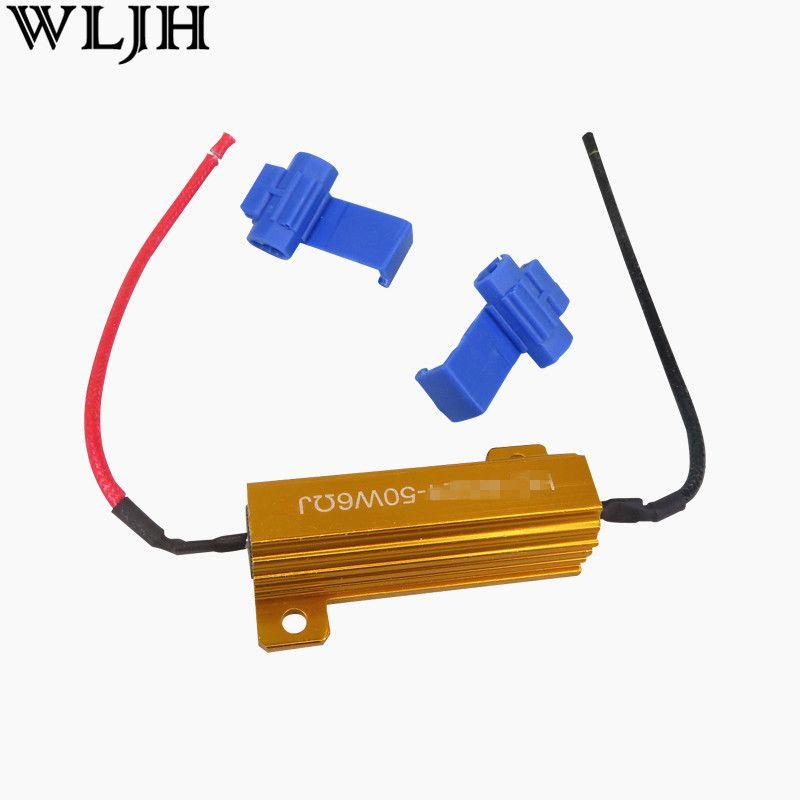 Wljh 2 шт. 6ohm 50 Вт LED нагрузочного резистора сигнальные лампы тормоза Hyper flash Blink мигалки код ошибки для автомобиля светодиодные лампы исправить ...