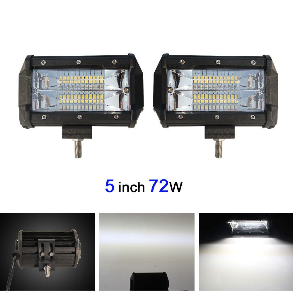 COLIGHT 72W 5 Inch Dual Row LED Light Bar Offroad Work Light For Led Atv Truck SUV 4x4 4WD 12V 24V All Car-styling Automotive