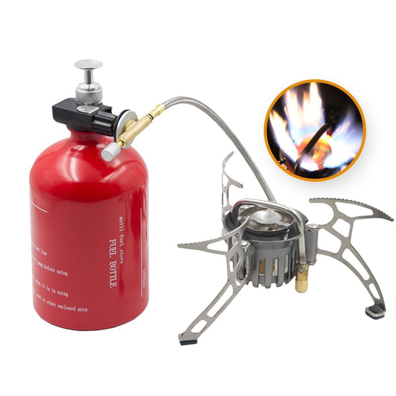 1100ml Big Capacity Outdoor Gasoline Stove Portable Camping Multi Fuel Stove