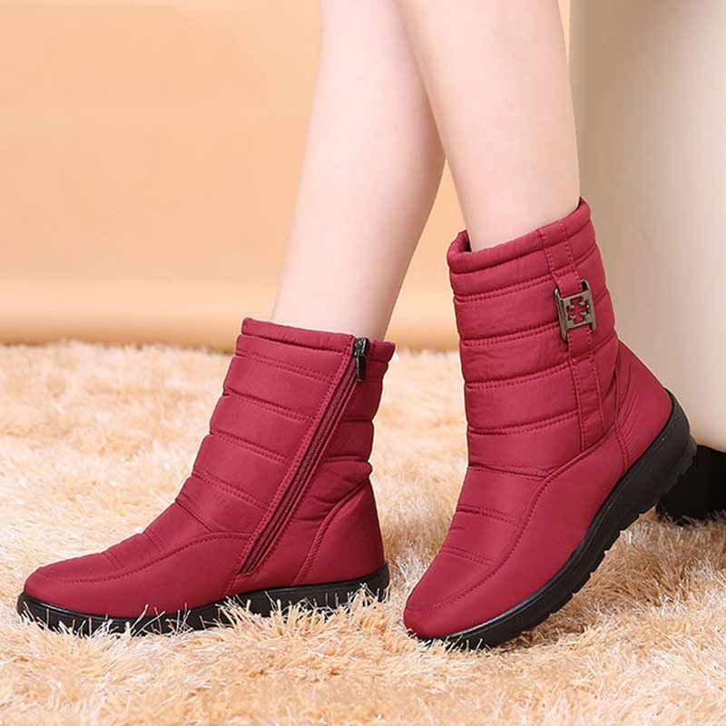 Plus size snow boots women winter plus fur keep warm non slip women boots 2017 waterproof casual women shoes