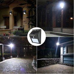30 48 LED PIR Sensor de movimiento luz Solar recargable al aire libre IP65 impermeable jardín decoración seguridad pared noche lámpara