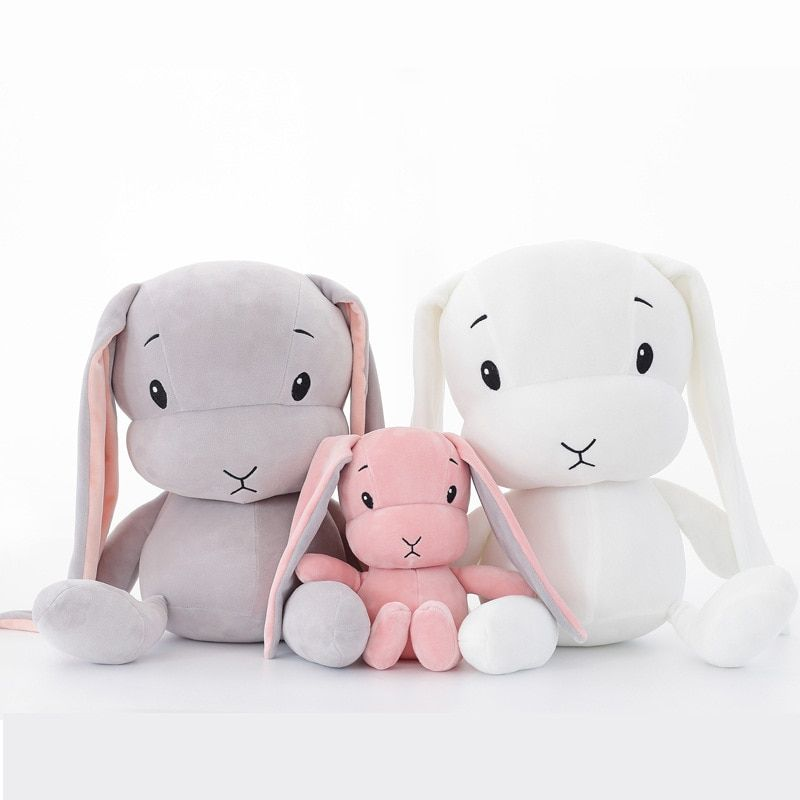 50 cm 30 cm Mignon lapin jouets en peluche Lapin En Peluche et En Peluche Animal Bébé Jouets poupée bébé accompagner sommeil jouet cadeaux Pour enfants WJ491