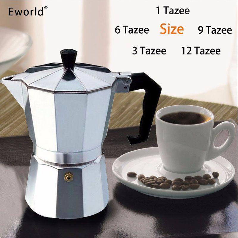 Eworld Glantop En Aluminium tasse/3cup/6cup/9cup/12cup Italien Cuisinière/Moka Espresso Cafetière/percolateur Pot Outil Livraison Gratuite