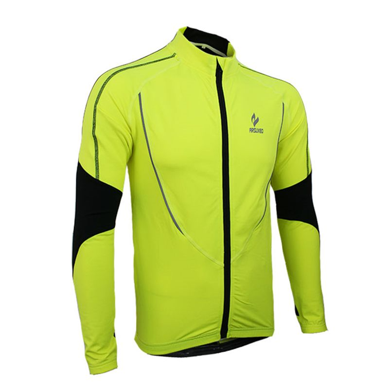 2016 New Brand Men's Cycling Jacket with Fleece for Autumn and Winter Running Full Zipper Keep Warm Clothing Long Sleeve Jacket