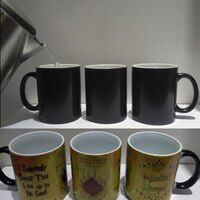 1 Uds. tazas unids mágicas Harry bebida caliente taza Color cambiante taza Potter Marauders mapa travesuras gestión vino té taza regalos creativos