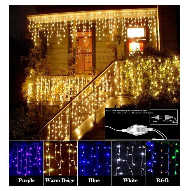 Christmas Garland LED Curtain Icicle String Light 220V 4.5m 100Leds Indoor Drop LED Party Garden Stage Outdoor Decorative Light