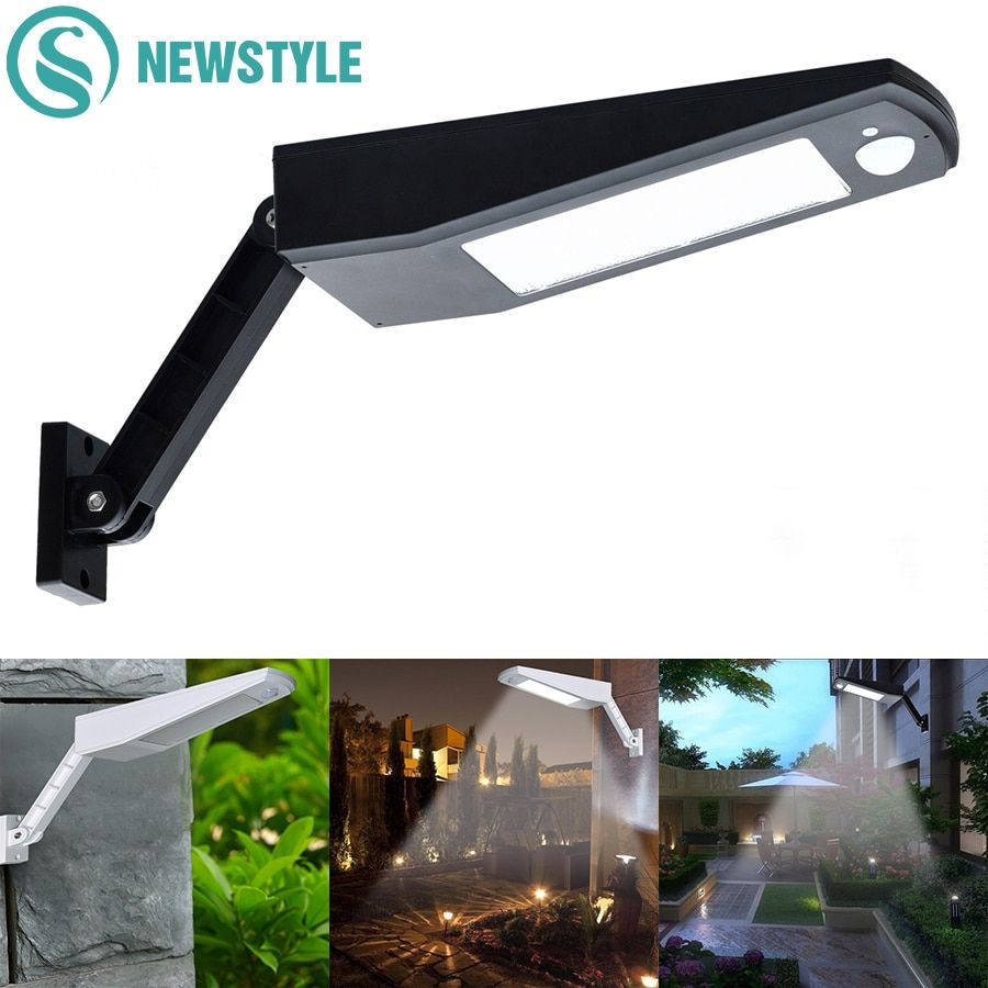 48 LED Wireless Solar Lights 900LM LED Outdoor Decor Waterproof PIR Motion Sensor Solar Wall Light For Garden Street Solar Lamps