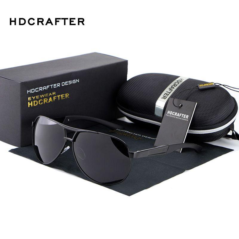 HOT HDCRAFTER 2017 Fashion polarized men sunglasses uv400 men's aviator glasses for driving
