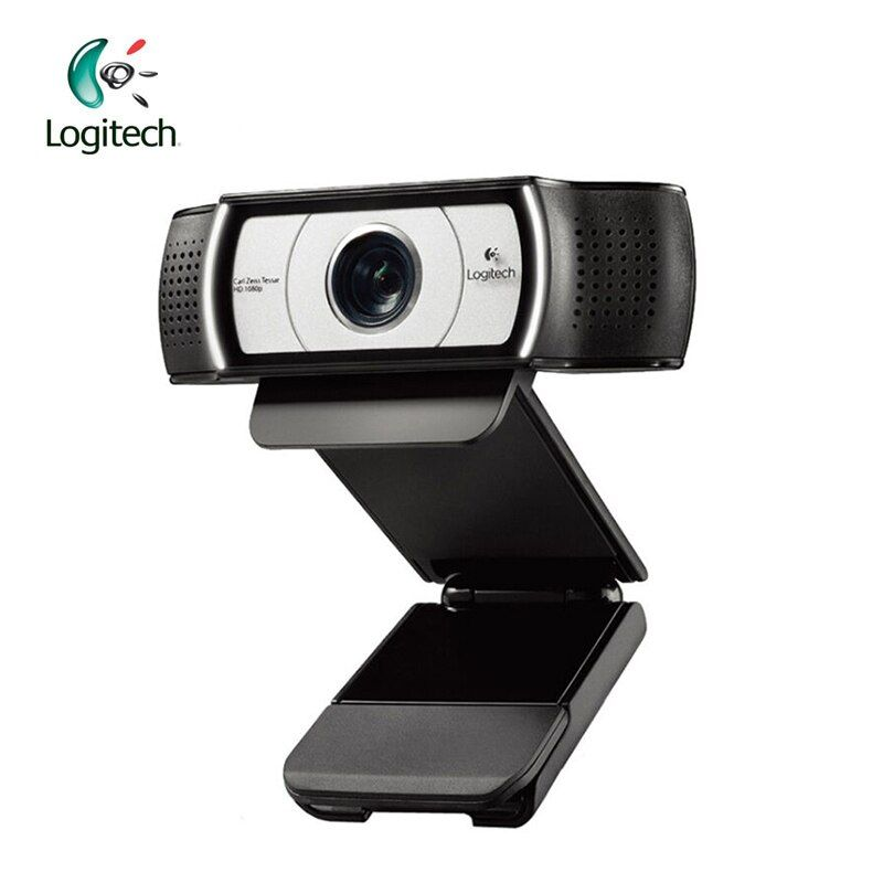 Logitech C930E 1920*1080 HD Garle Zeiss Lens Certification Webcam with 4Time Digital <font><b>Zoom</b></font> Support Official Verification for PC