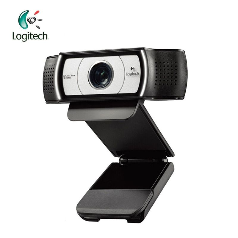 Logitech C930E <font><b>1920</b></font>*1080 HD Garle Zeiss Lens Certification Webcam with 4Time Digital Zoom Support Official Verification for PC