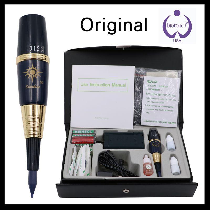 Original 1 satz USA biotouch sonnenschein tattoo maschine kit permanent make-up maschine kit Für Augenbrauen und Lippen Mit Tattoo Gun nadel